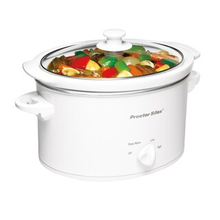 Proctor-Silex White 3 Quart Slow Cooker