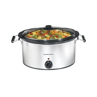 Hamilton Beach Stainless Steel 7 Quart Portable Slow Cooker