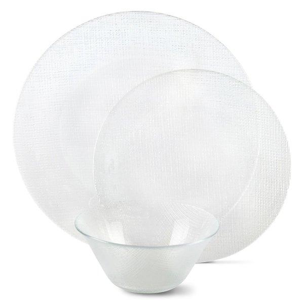 Circle Glass Jcp Home Mesa 12 Piece Textured Dinnerware