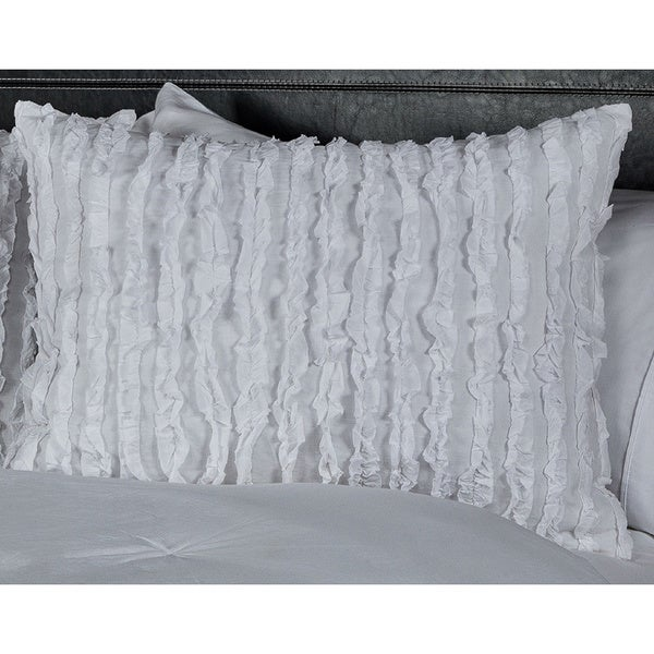 Kalyana White Collection Shams by Arden Loft