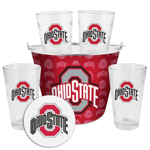 Ohio State Buckeyes Glass Bucket and Pint Gift Set