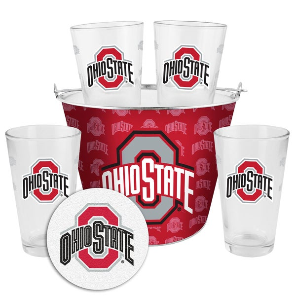 Ohio State Buckeyes Glass Bucket and Pint Gift Set