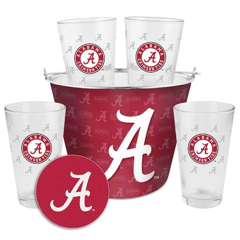 Alabama Crimson Tide Glass Bucket and Pint Gift Set