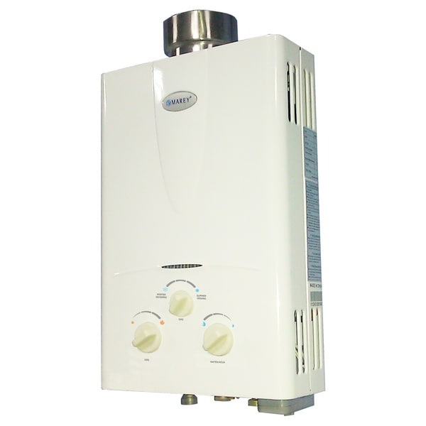 shop marey power gas 10l liquid propane tankless water heater - free