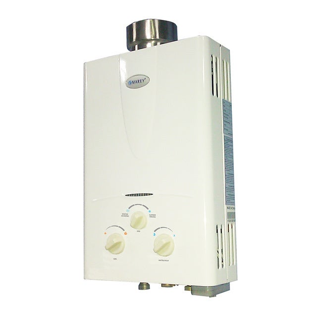 Marey Power Gas 10L Natural Gas Tankless Water Heater wit...