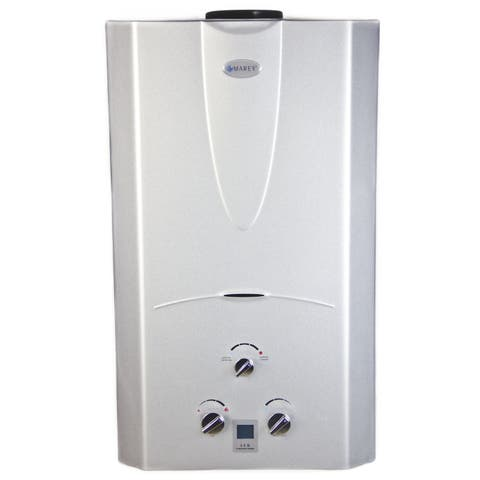 Marey Power Gas 16L Natural Gas Tankless Water Heater with Digital Panel