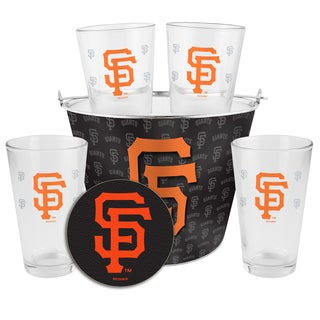 San Francisco Giants Glass Bucket and Pint Gift Set