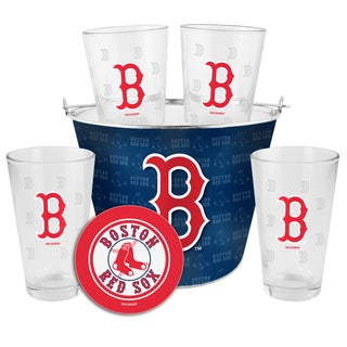 Boston Red Sox Glass Bucket and Pint Gift Set