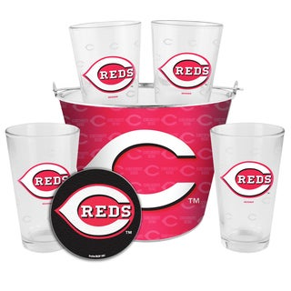 Cincinnati Reds Glass Bucket and Pint Gift Set
