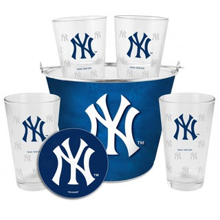 New York Yankees Glass Bucket and Pint Gift Set