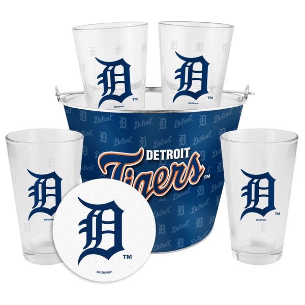 Detroit Tigers Glass Bucket and Pint Gift Set