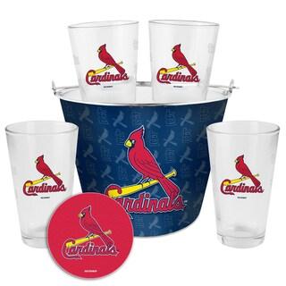 St Louis Cardinals Glass Bucket and Pint Gift Set