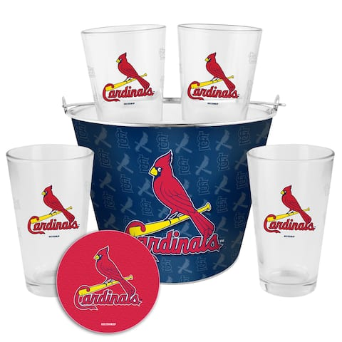 St Louis Cardinals Glass Bucket and Pint Gift Set