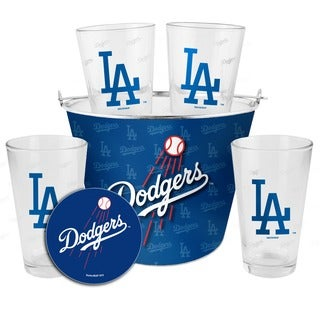 Los Angeles Dodgers Glass Bucket and Pint Gift Set