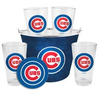 Chicago Cubs Glass Bucket and Pint Gift Set