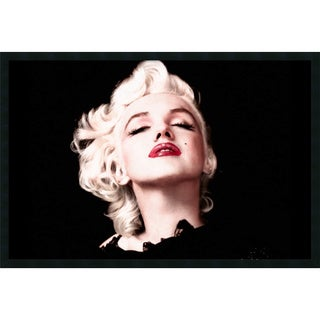 Marilyn Monroe - Eyes Shut' Framed 37 x 25-inch Art Print with Gel Coated Finish