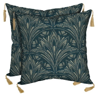 Bombay Outdoors Royal Zanzibar Reversible Square Toss Cushion Pillow with Tassels (Set of 2)