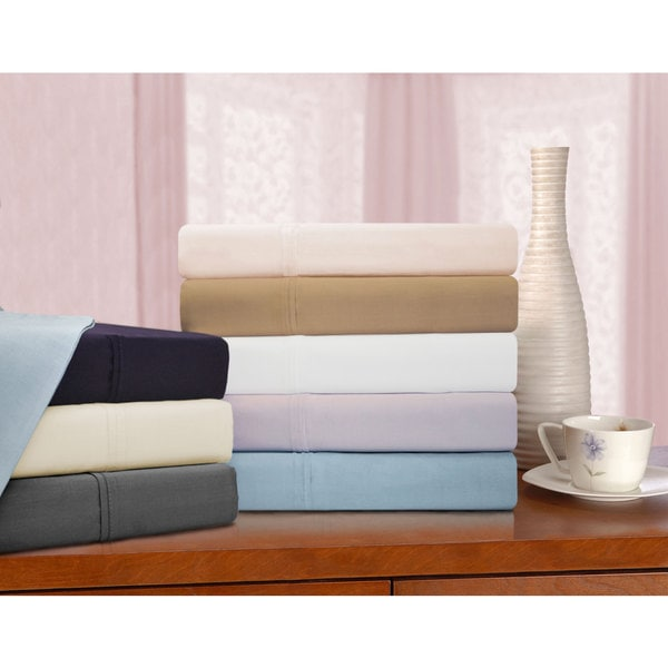 Superior 425 Thread Count Cotton Solid Sheet Set