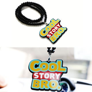 iJDMTOY Joking JDM Cool Story Bro Rearview Mirror Hanging Charm Dangling Beaded Pendant For Car Decoration
