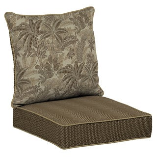 Bombay Outdoors Palmetto Mocha Reversible Deep Seat Cushion Set
