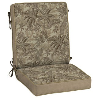 Bombay Outdoors Palmetto Mocha Reversible Chair Cushion