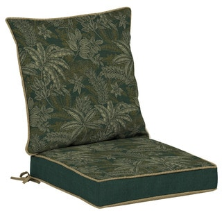 Bombay? Outdoors Palmetto Green Reversible Dining Cushion Set