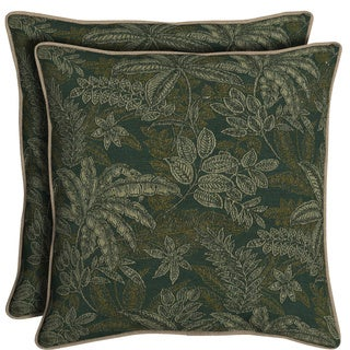 Bombay Outdoors Palmetto Green Reversible Oversize Toss Cushion Pillows (Set of 2)