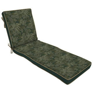 Bombay® Outdoors Palmetto Green Reversible Chaise Cushion