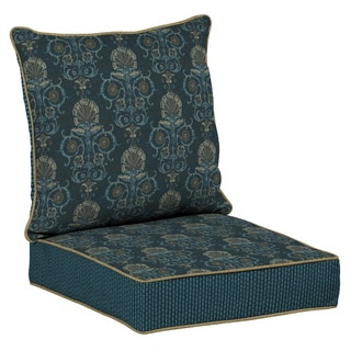 Bombay Outdoors Anatolia Blue Reversible Deep Seat Cushion Set