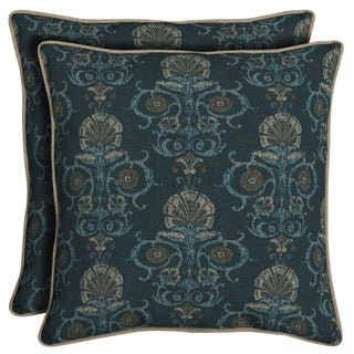 Bombay® Outdoors Anatolia Blue Reversible Oversize Toss Cushion Pillow Set of 2