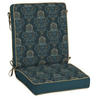 Bombay® Outdoors Anatolia Blue Reversible Chair Cushion
