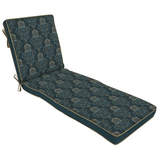 Bombay Outdoors Anatolia Blue Reversible Chaise Cushion