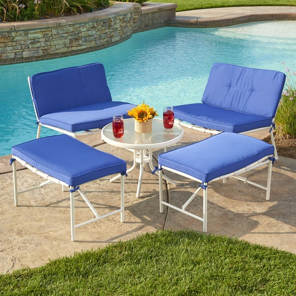 5 Piece Della Patio Set Free Shipping Today Overstock