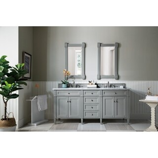 Brittany 72 Inch Double Cabinet in Urban Grey