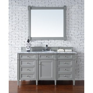 Brittany 60-inch Single Vanity cabinet in Urban Gray
