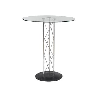 Trave-B Bar Table Clear Glass/ Black