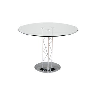 Trave Chrome 36-inch Dining Table