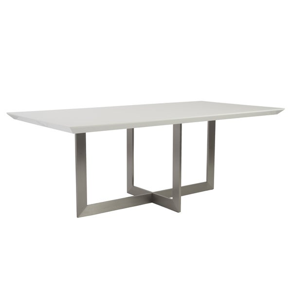 Tosca Dining Table WhiteStainless Steel Free Shipping  : Tosca Dining Table White Stainless Steel 5e23b279 d6ed 4386 9da7 f5275df6070c600 from www.overstock.com size 600 x 600 jpeg 5kB