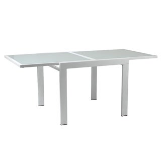 Duo Frosted Glass Square Table