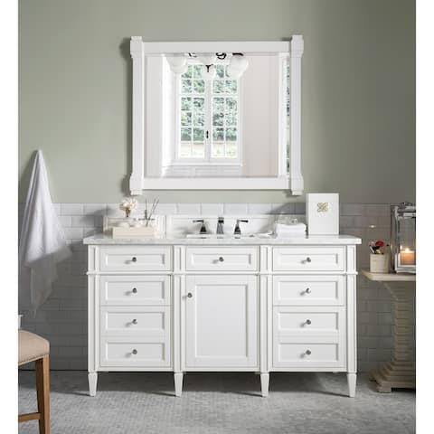 """Brittany 60"""" Single Cabinet, Cottage White"""