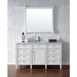 James Martin Furniture   Brittany 60 Inch Single Vanity cabinet  Cottage  White. James Martin Furniture Bathroom Vanities   Vanity Cabinets   Shop