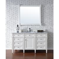 "Brittany 60"" Single Cabinet, Cottage White"