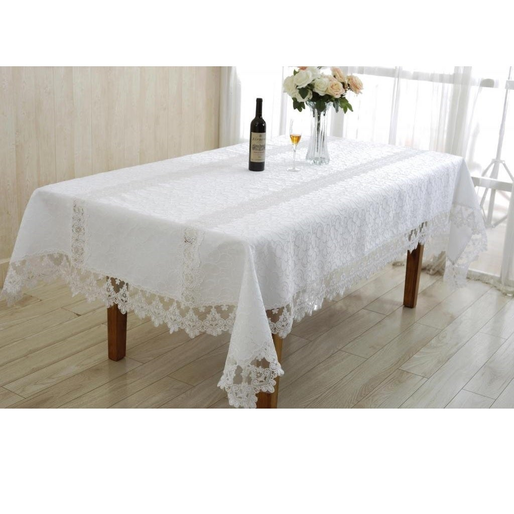 Enchanting tablecloth embroidered vintage