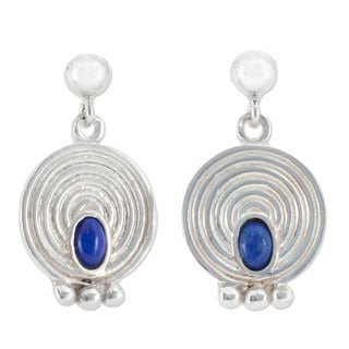 Handmade Sterling Silver 'Transformation' Lapis Lazuli Earrings (Mexico)