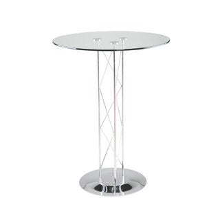 Trave-B Clear Glass Bar Table