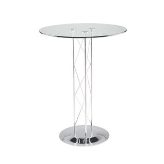 Trave Black/ Chrome 36-inch Bar Table