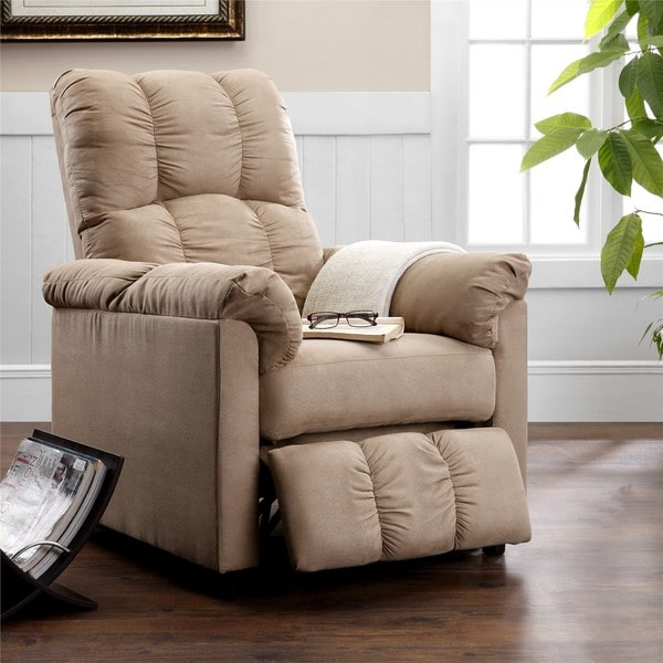 Dorel Living Slim Beige Recliner & Dorel Living Slim Beige Recliner - Free Shipping Today - Overstock ... islam-shia.org