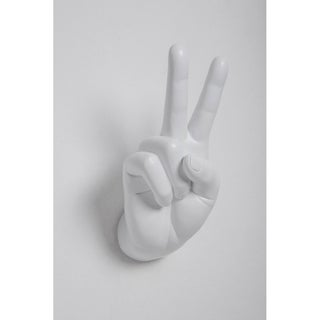 """Link to Interior Illusions Plus White Peace Hand Wall Mount - 8.5"""" tall Similar Items in Vinyl Wall Art"""
