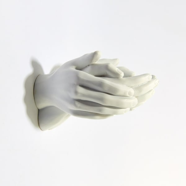 """Interior Illusions Plus White Helping Hands Wall Mount - 9"""" long. Opens flyout."""