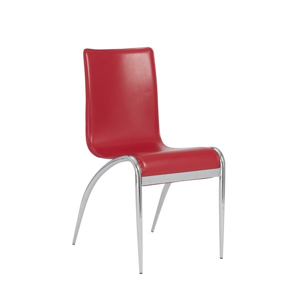 Grace Red Dining Chairs (Set Of 4)   Free Shipping Today   Overstock.com    17816746